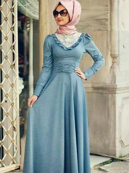 بالصور لبس بنات محجبات , اجمل ملابس المحجبات 4276 10