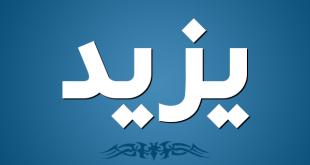 صوره معنى اسم يزيد , اسم ولد ديني