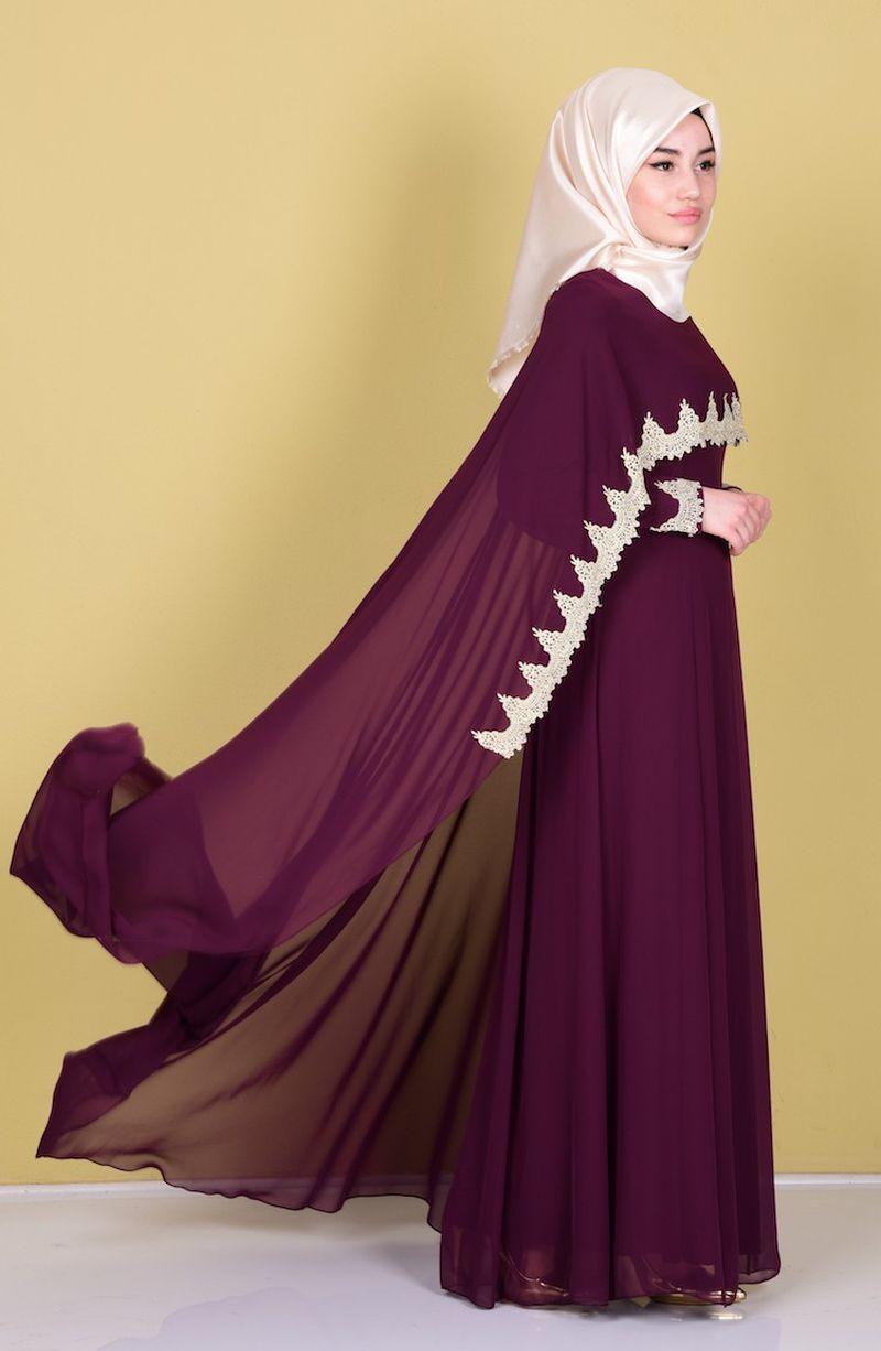 صورة فساتين سهرة للمحجبات 2019 , احدث الفساتين للمحجبات2019