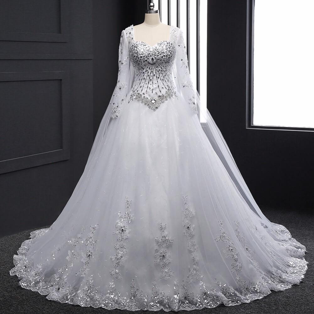 صورة فساتين افراح , اجمل وارقي الفساتين