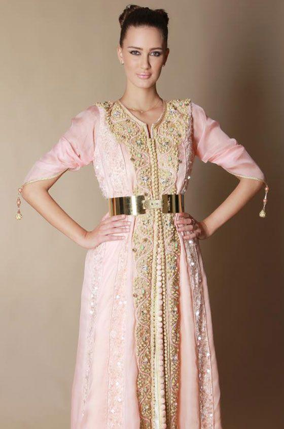 صورة قفطان عصري , رداء العروس المغربيه