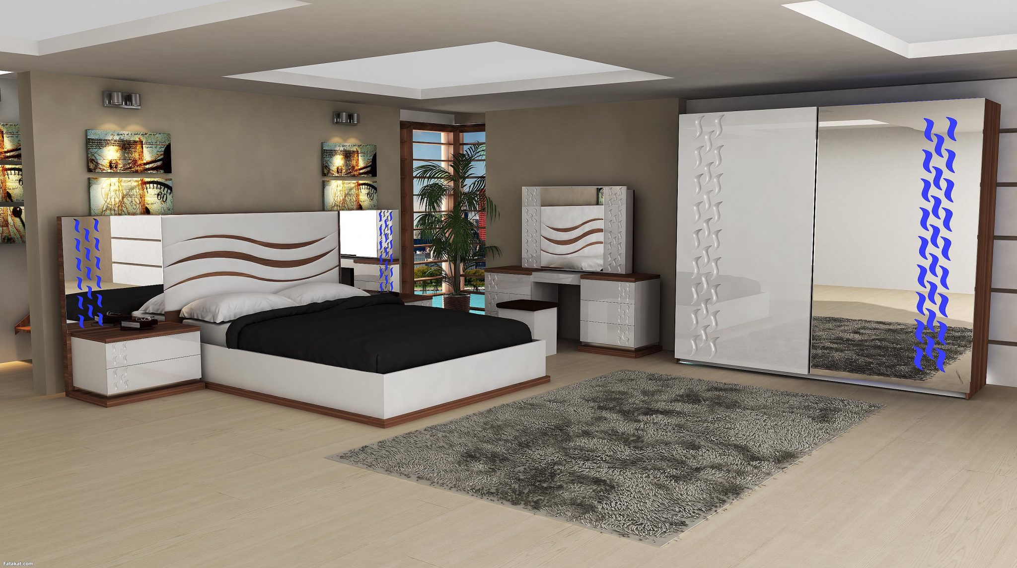 بالصور غرف نوم حديثه , احدث اشكال غرف النوم 3687 9