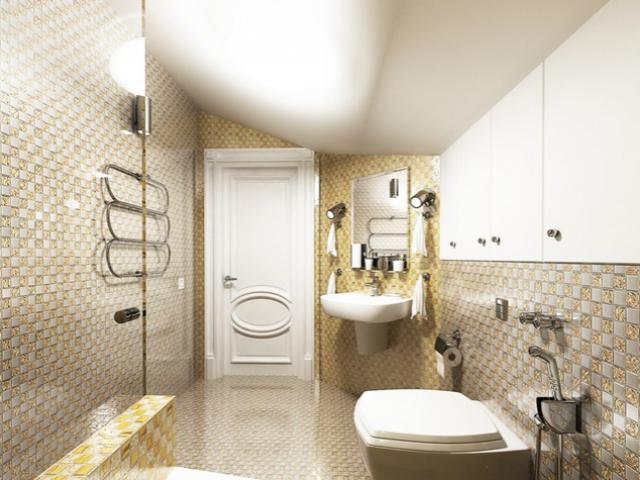 صورة حمامات صغيرة , ديكورات حمامات للمساحات الصغيره
