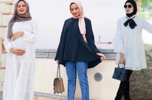 صورة ملابس للحوامل المحجبات , اشيك موديلا الحوامل و المحجبات