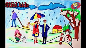 صورة رسومات عن فصل الشتاء , اجمد الرسومات للشتاء