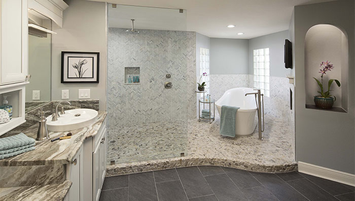 بالصور حمامات داخل غرف النوم , كيفية تنسيق الوان الحمامات مع باقى المنزل 4820 11