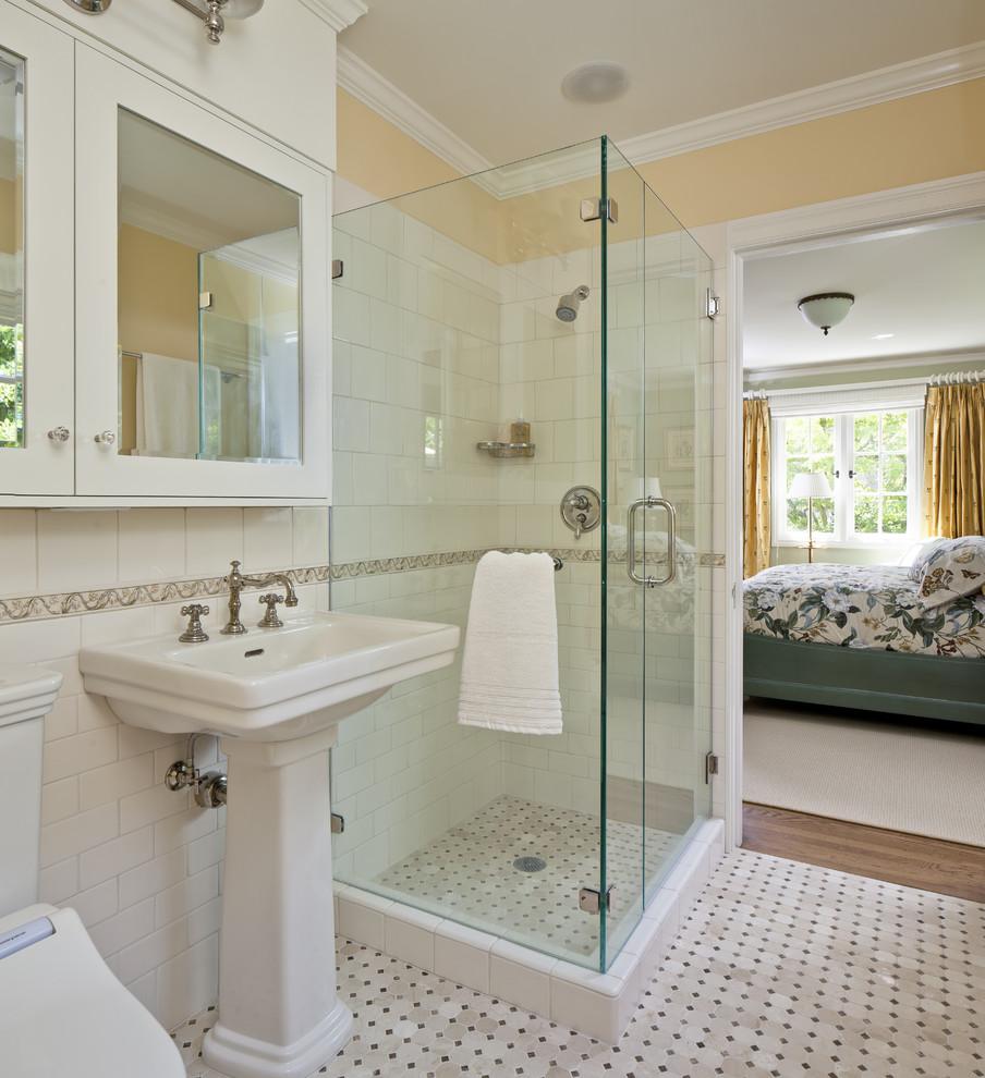 صور حمامات داخل غرف النوم , كيفية تنسيق الوان الحمامات مع باقى المنزل