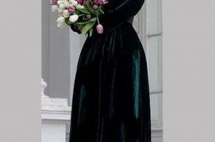 صور فستان مخمل , اجدد واروع تصميمات المخمل لشتاء 2019