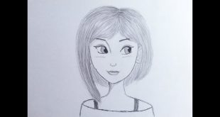 صور رسومات بنات سهله , رسم بسيط وسهل للبنات