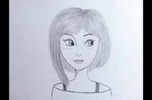 صورة رسومات بنات سهله , رسم بسيط وسهل للبنات