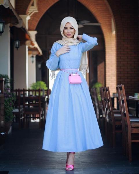 صورة احلى فساتين للمحجبات , اجمل و اروع الفساتين