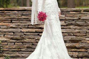 صورة فستان زفاف محجبات , اجمل فساتين الزفاف للمحجبات