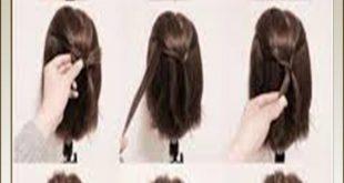 صورة تعليم تسريحات شعر , اسهل وابسط واسرع طرق لتسريحات البنات