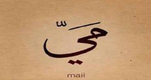 صورة اسم مي في جميع اللغات , شرح معاني اسم مي