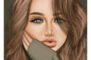 صورة رسومات بنات جميلة , لوحة جميلة لفتاة جميلة