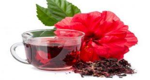 صورة شاي كركديه للتنحيف , فوائد شاي الكركديه