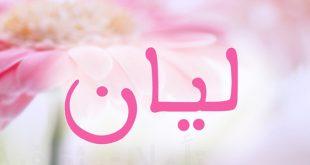 معنى اسم ليان , اسم ليان من الأسماء المميزه تعالو شوفو السبب